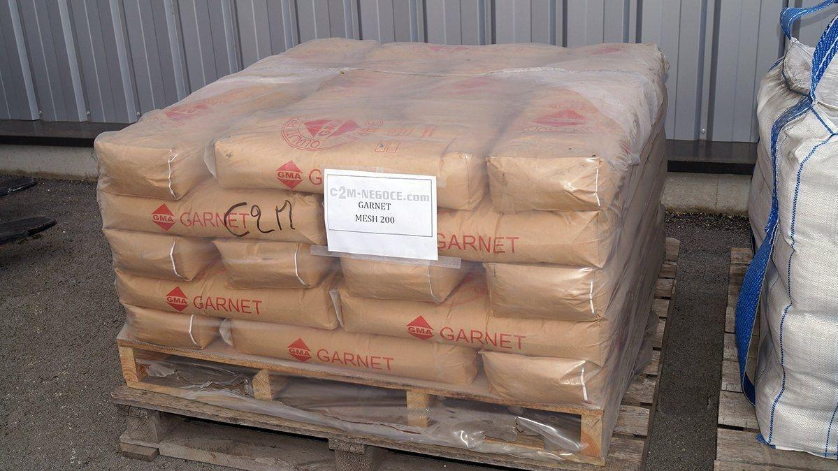 40 sacs de 200 mesh garnet